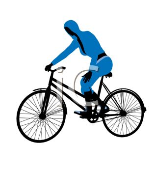 cartoon clip art of a woman sitting on a bicycle