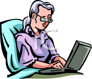 clip art of a business woman typing on a laptop royalty free rh clipartguide com