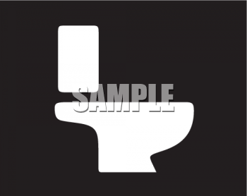 Simple icon graphic or symbol of a toilet or bathroom