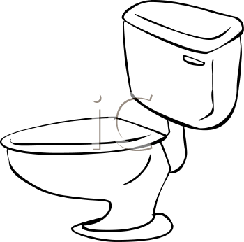 Simple Outline Drawing Of A Toilet And Tank