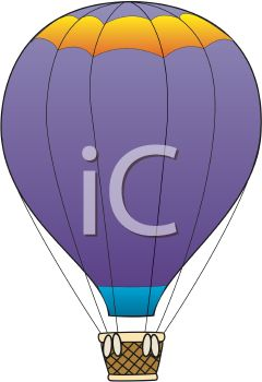 Illustration Of a purple hot air balloon