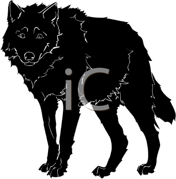 Clip Art Of A large dog with a sad look on his face