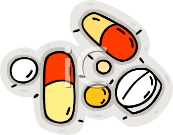picture of prescription medication in a vector clip art illustration