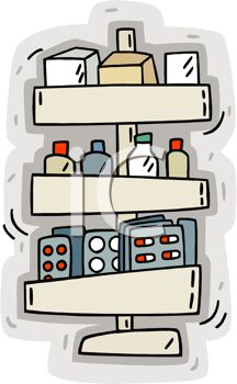 picture of a variety of prescription medications in a vector clip art illustration