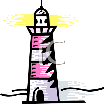 clip art illustration of a lighthouse