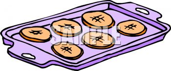 clip art image of cookies on a cookie sheet