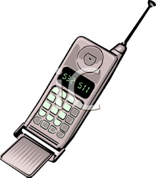 Image Of A Cell Phone In A Vector clip art illutration