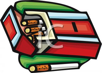 picture of a pack of cigarettes laying in an ashtray in a vector clip art illustration