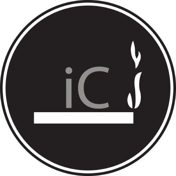 picture of a smoking permitted sign on a black background in a vector clip art illustration