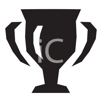 Simple drawing of the silhouette of a trophy Cup