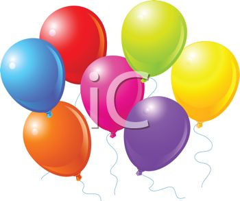 picture of colorful balloons in a vector clip art illustration