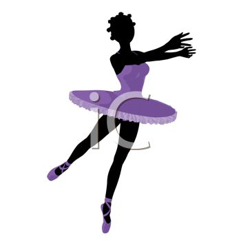 picture of an ethnic woman ballet dancing in a vector clip art illustration