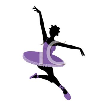 picture of a ballerina ballet dancing in a vector clip art illustration