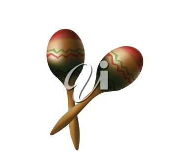 picture of a pair of maracas in a vector clip art illustration