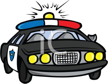 police car in a chase with its lights flashing royalty free clip rh clipartguide com police car clip art pictures police car clipart images
