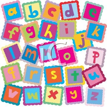 all the letters of the alphabet in ABC blocks for learning
