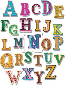 all the letters of the alphabet from A to Z