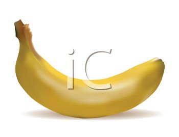 picture of a banana in a vector clip art illustration