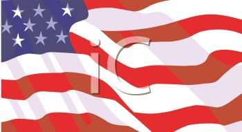 picture of an american flag in a vector clip art illustration