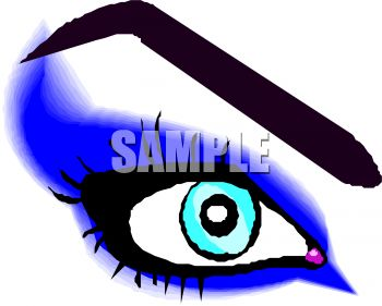 picture of a blue eye in a vector clip art illustration