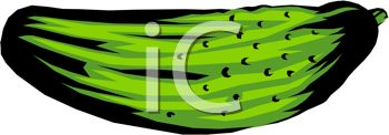 picture of a ripe pickle in a vector clip art illustration