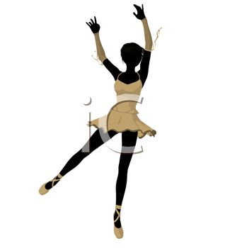 picture of a silhouette of a ballet dancer in a vector clip art illustration