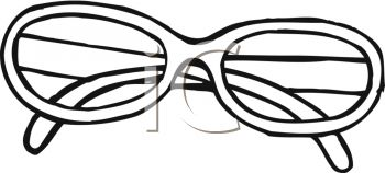 picture of a pair of eyeglasses in a vector clip art illustration