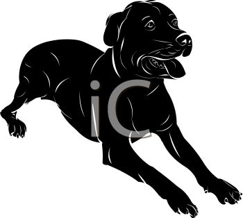 picture of a black dog laying down with his tongue out in a vector rh clipartguide com black dog bone clipart black dog clipart free