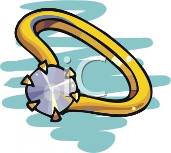 picture of a diamond ring in a vector clip art illustration
