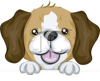 picture of a beagle pup in a vector clip art illustration