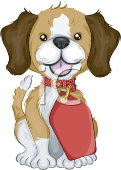 picture of a beagle puppy wearing a tag in a vector clip art illustration