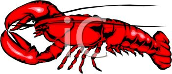 picture of a lobster cartoon in a vector clip art illustration