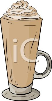 picture of a glass of ice cream with whip cream on top in a vector clip art illustration
