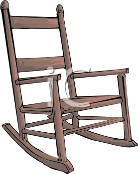 Rocking Chair Clipart picture of a wooden rocking chair in a vector clip art