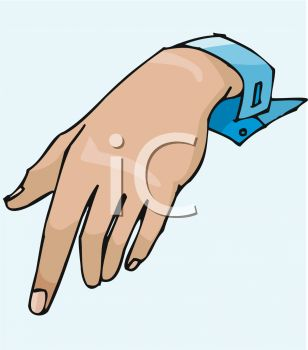 picture of a hand in a vector clip art illustration