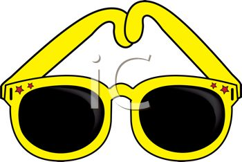 picture of a pair of yellow sunglasses in a vector clip art rh clipartguide com sunglass clipart sunglasses clip art to print free