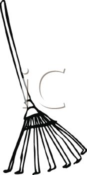 picture of a rake in a vector clip art illustration