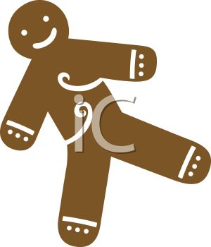 picture of a gingerbread man in a vector clip art illustration