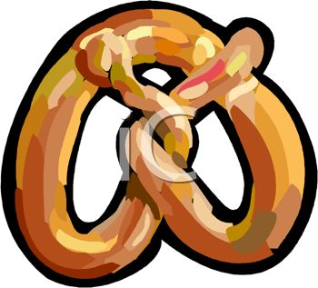 picture of a pretzel in a vector clip art illustration