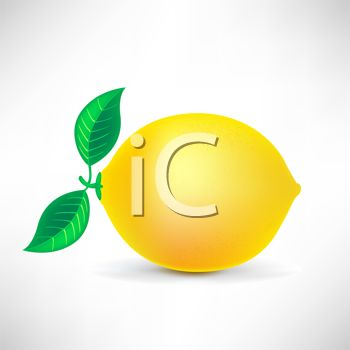 picture of a fresh lemon in a vector clip art illustration