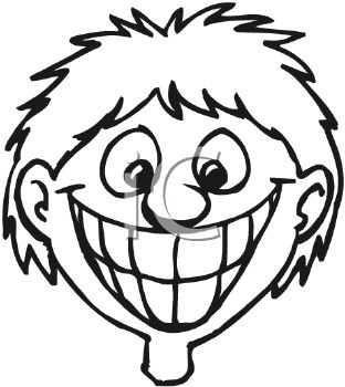 picture of a boy with a very big smile showing his teeth in a vector rh clipartguide com smile clip art cartoon smiley clip art images