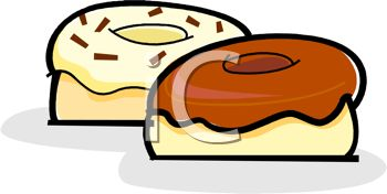 picture of two circle donuts in a vector clip art illustration