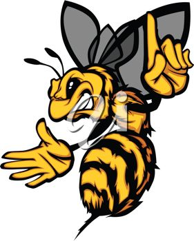 picture of an angry cartoon yellow jacket with his finger pointing rh clipartguide com yellow jacket clipart black and white fighting yellow jacket clipart
