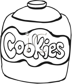 picture of a black and white jar of cookies in a vector clip art rh clipartguide com