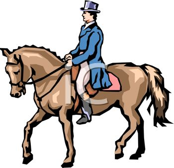 picture of a jockey walking his horse in a vector clip art illustration