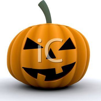 picture of a jack o lantern in a vector clip art illustration