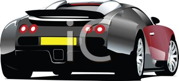 picture of a viper sports car on a white background in a vector clip art illustration