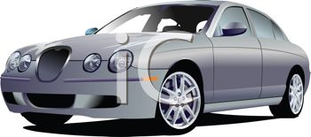 picture of a sporty Sedan in a vector clip art illustration