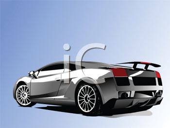 picture of a viper sports car in a vector clip art illustration