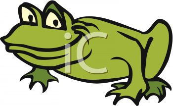 picture of a funny cartoon frog in a vector clip art illustration